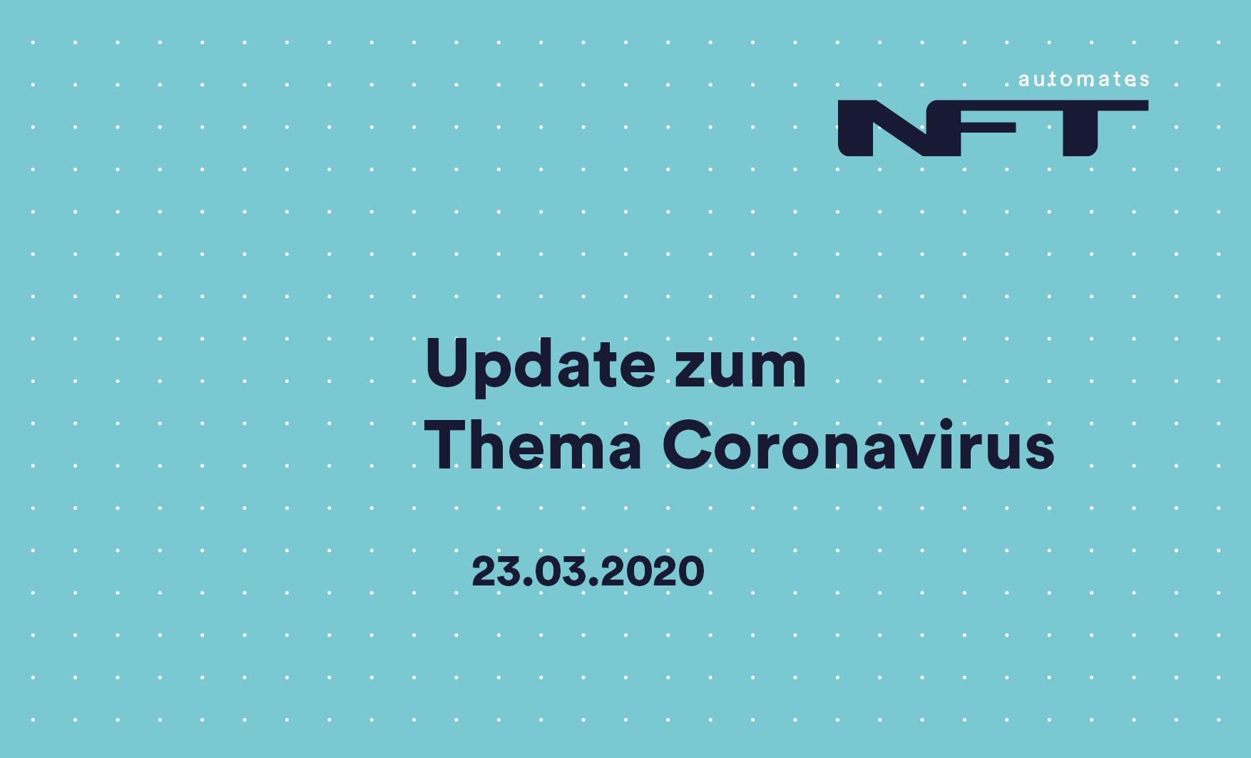 Update zum Thema Coronavirus